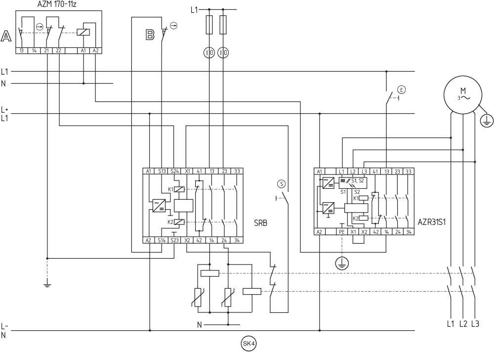 Schmersal Stillstandswächter AZR31S1 24VDC